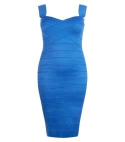 Blauwe plus size Bodycon Dress van New Look Curve