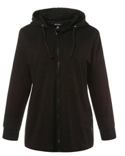zwart plus size fitness jasje van Ulla Popken