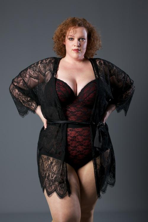 plus size bodysuit van new look curve en kimono van ulla popken