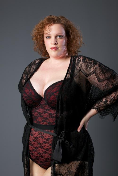 plus sie bodysuit van new look curve en kimono van ulla popken