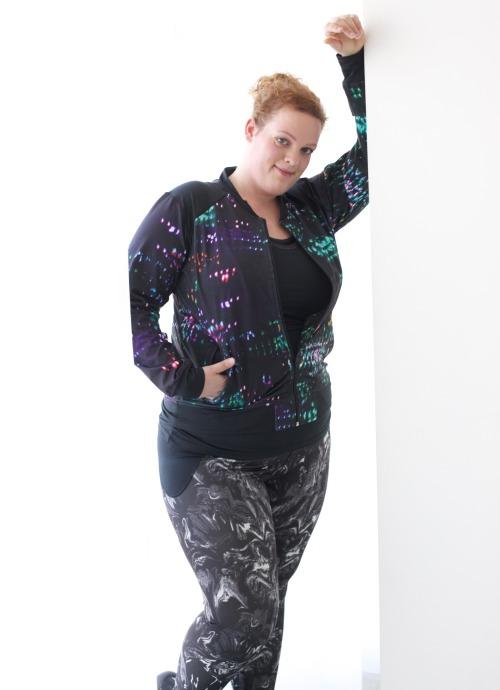 plus size fitness leggings en jas van Anna Scholz