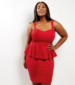 red bodycon dress New Look Curve