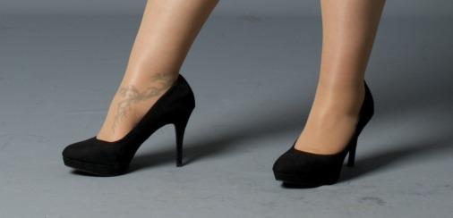 wide fit platform court heels New Look