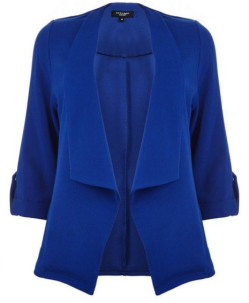 blauwe plus size blazer van new look curves