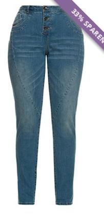 licht blauwe plus size curvy jeans van ulla popken