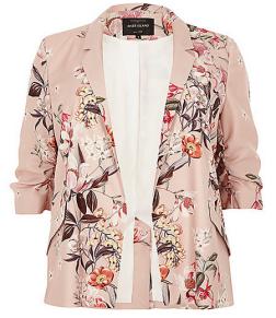 plus size floral blazer van River Island