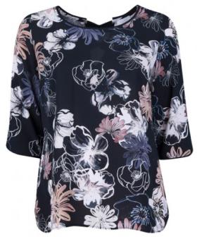 plus szie losse blouse met bloemenpritn van bel&bo