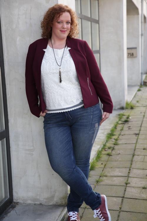 plus size top en blazer van c&a plus size jeans van ulla popken