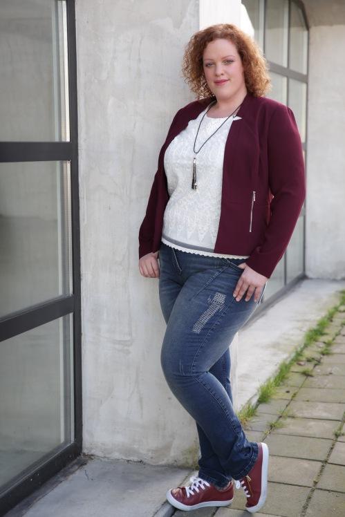 plus size top en blazer c&a en plus size jeans ulla popken