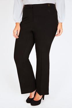 plus size zwarte klassieke broek van Yours Clothing UK