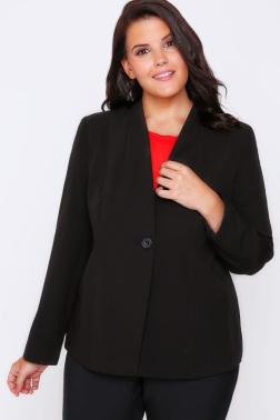 zwarte plus size blazer van Yours Clothing UK